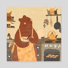 Holiday Bear - Canvas by Qath Sioc