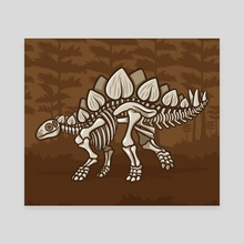 Extinct Lil' Stegosaurus - Canvas by Jennifer Smith