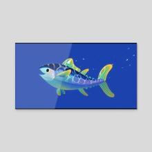 Atlantic Bluefin Tuna - Acrylic by pikaole