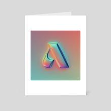A - 36 days of type #07 - Art Card by Martin Naumann