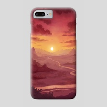 Sunset Valley - Phone Case by Emma Patrick
