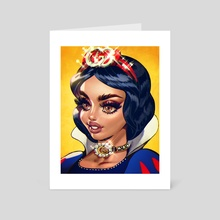 Snow white - Art Card by Naked Cherry