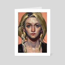 Just Peachy - Art Card by John Larriva