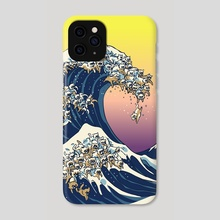 The Great Wave Of Cat - Phone Case by huebucket
