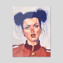 Indigo Girl - Acrylic by Jonny Ruzzo