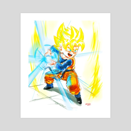 Going SSJ- Goten Kamehameha by MARK CLARK II