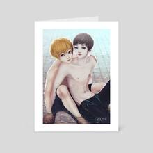 Mermans - Art Card by Alex D