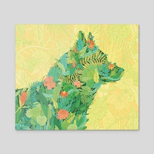 Green Pets - Acrylic by Gaby D'Alessandro