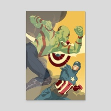 Drax vs Cap - Acrylic by Jai Kamat