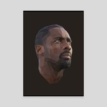 Idris Elba Low-Poly - Canvas by Micah Denn