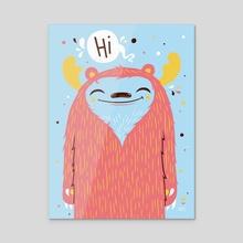 Hi - Acrylic by Greg Abbott