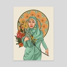 Hijabi Nouveau - Canvas by Brandy Bingham