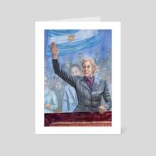 Watercolor Painting of Eva Peron - Powerful Women Oracle Card Deck - Art Card by Belinda Morris