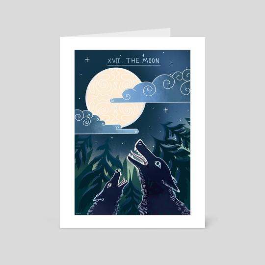 The Moon tarot by Olivia Ó Duinn