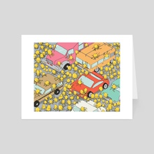 The Traffic Jam - Art Card by Ryan Consbruck