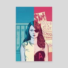 Easy A - Canvas by Tom Humberstone