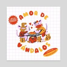 Amor de Vandalos - Canvas by Daniel Gomez