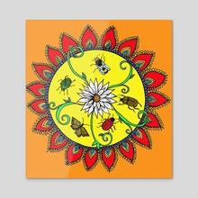 Insect Mandala - Acrylic by Abigail Latham