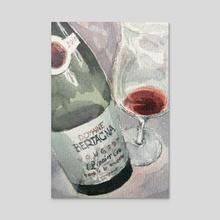 Fine Wine 1 - Acrylic by Clemson Chan
