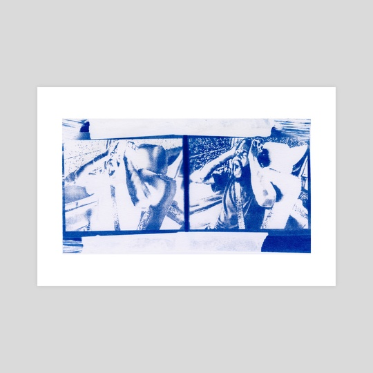 Not Having a Good Time, Cyanotype 02 by Quinten Staples