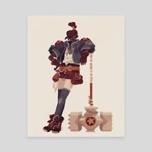 Hammer - Canvas by Jenn So