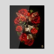 Tattoo Death V - Acrylic by Billelis