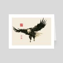 Eagle - 66 - Art Card by River Han