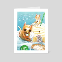 The Adventures of Coffee Cat - Art Card by Nikki Smits