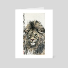 Lion - 1 - Art Card by River Han