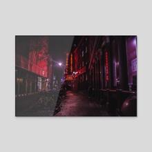 Red Nights - Acrylic by SARAH TSANG