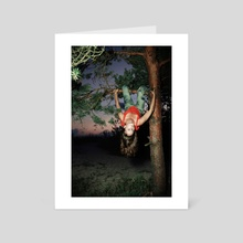Up in a Tree - Art Card by Linas Vaitonis