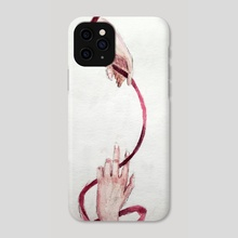 Red string of fate - Phone Case by Lucy Nguyen