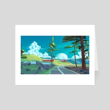 Summer Road - Art Card by Arina Mochalova