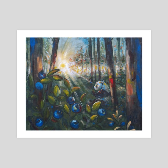 Panda of Finland: Blueberry Picker by Visual artist Elli Maanpää