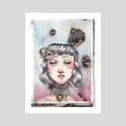 En llamas  - Art Print by Marta Calero