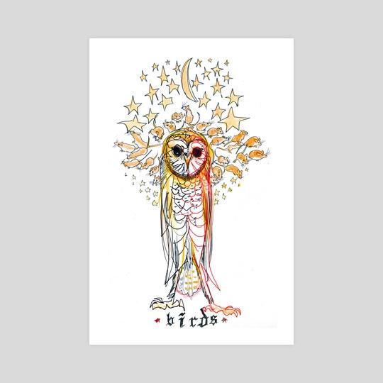 Owl & Mice by birds