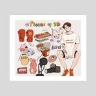 Pieces of JK - Art Print by Luna