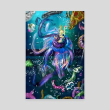 80s Mermaid  - Canvas by Carissa (MAEJONIN) Fei