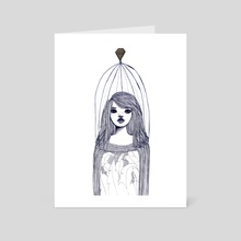 caged - Art Card by Karolina Trojka