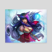 Ahri - Canvas by Dhaxina Dee