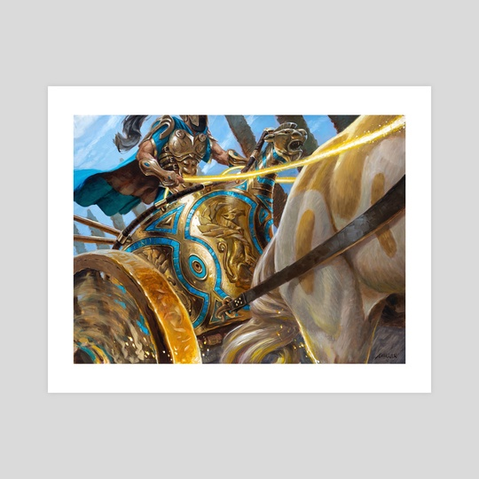 MTG - Thundering Chariot by Aaron Miller