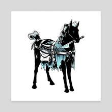 The Horse Knight - Canvas by Lorène Yavo