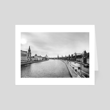 Stranger in Moscow - River view of the Kremlin I - Art Card by Arteh Odjidja
