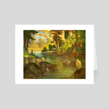 Boulder Creek (North of Santa Cruz, CA) by V.P. Shkurkin - Art Card by Katya Shkurkin