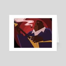 Albert King - Art Card by Brett Underhill