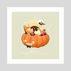 Pumpkin Treat 01 - Art Print by Nadia Kim