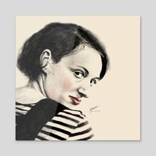 Phoebe Waller-Bridge - Acrylic by Stu Chapman