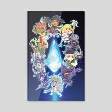 Final Fantasy XIV - Acrylic by Reema Andrade