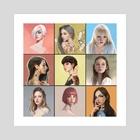 Portrait Series I - Art Print by Steve Jung