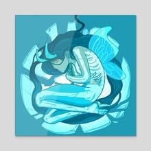 Crystal Bones - Acrylic by Ashenwave